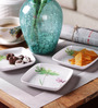 Machi Evergreen Munchie Melamine Snack Plate - Set Of 6