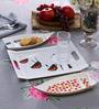 Machi Multicolour Melamine Boat Plates and Serving Tray Set