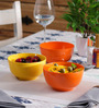 Machi Multicolour Melamine 700 ML Serving Bowl - Set Of 3