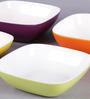 Machi Multicolour Melamine Serving And Snack Bowls - Set Of 4
