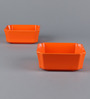 Machi Orange Melamine 500 ML Designer Snack Bowl - Set of 6