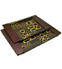 Machi Polished Brown Dee's Wooden Tray - Set of 2