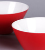 Machi Red Melamine 600 ML Noodle Bowl - Set Of 3
