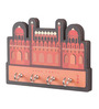 Mad(e) in India Multicolour MDF 5 x 0.3 x 3.5 Inch Red Fort Key Holder