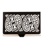 Mad(e) in India Paisley Leatherette Black Visiting Card Holder