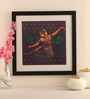 Mad(e) in India Paper & Glass 18 x 0.5 x 18 Inch Bharatnatyam Dancer Framed Digital Art Print