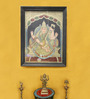 Madhurya Multicolour Gold Plated Goddess Saraswati Framed Tanjore Painting