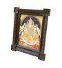 Madhurya Multicolour Gold Plated Gajalakshmi Framed Tanjore Painting