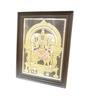 Madhurya Multicolour Gold Plated Simhavahini Goddess Durga Framed Tanjore Painting