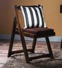 Madison Folding Chair in Provincial Teak Finish with Brown Cushion by Woodsworth