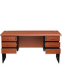 Madison Six Drawer Office Table by Nilkamal
