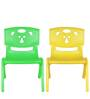 Magic Bear Chair Set of 2 Pieces in Green and Yellow Colour by Sunbaby