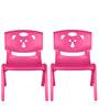 Magic Bear Chair Set of 2 Pieces in Pink and Pink Colour by Sunbaby