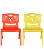 Magic Bear Chair Set of 2 Pieces in Red and Yellow Colour by Sunbaby