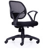 Magic Low Back Chair in Black Colour by Durian