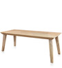 Magix Eight Seater Dining Table in White Natural Finish by @Home
