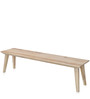 Magix Three Seater Dining Bench in White Natural Finish by @Home