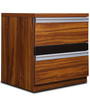 Magna Bedside Table in Teak Finish by Home City