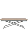 Magnum Expandable Coffee cum Dining Table in Brown Colour by Gravity