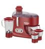 Maharaja Whiteline Ultimate Red Treasure 550 W Juicer Mixer Grinder