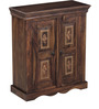 Mahesvari Cabinet with Repousse Work in Provincial Teak Finish by Mudramark