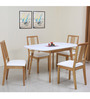Mainland Four Seater Dining Set in Light Oak Finish by @ Home