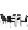 Maize Six Seater Dining Set in Black & White Colour by @home