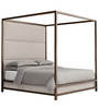Majestic Canopy King Size Full Back Bed in Golden Colour by Asian Arts