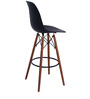 Makoto Bar Chair (Set of 2) in Black Colour by Mintwud