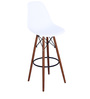 Makoto Bar Chair (Set of 2) in White Colour by Mintwud