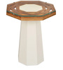 Malibu Side Table in White & Walnut Colour by @home