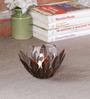 Malik Design Brown Metal Flower Tea Light Holder