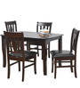 Malmo Four Seater Dining Set in Brown Oak colour by @home