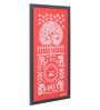 Manomay Kreations Red Canvas Wishing Tree Framed Warli Painting