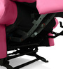Manual Recliner with Glider in Pink Colour by Comfort Couch