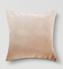 Mapa Home Care Beige Cotton 16 x 16 Inch Solid Cushion Cover