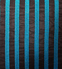 Mapa Home Care Black & Blue Duppioni 16 x 16 Inch Sequined Work Striped Cushion Cover