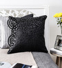 Mapa Home Care Black Duppioni 16 x 16 Inch Spotted Cushion Cover