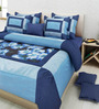 Mapa Home Care Blue Duppioni 95 x 95 Inch 5-piece Quit Set