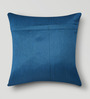 Mapa Home Care Blue Duppioni 16 x 16 Inch Studded Work Cushion Cover