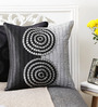 Mapa Home Care Grey & Black Duppioni 16 x 16 Inch Textured Cushion Cover