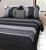 Mapa Home Care Black Duppioni 5-piece Striped Quilt Set