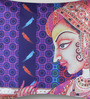 Mapa Home Care Multicolor Duppioni 16 x 16 Inch Mughal Painting Cushion Cover