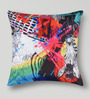 Mapa Home Care Multicolor Duppioni 16 x 16 Inch Pop Art Cushion Cover