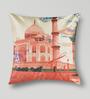Mapa Home Care Multicolor Duppioni 16 x 16 Inch Printed Heritage Cushion Cover