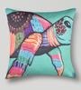 Mapa Home Care Multicolor Duppioni 16 x 16 Inch Turtle Cushion Cover