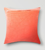 Mapa Home Care Peach Cotton 16 x 16 Inch Solid Cushion Cover