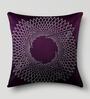 Mapa Home Care Purple Duppioni 16 x 16 Inch Studed Work Cushion Cover