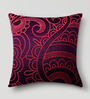 Mapa Home Care Red Duppioni 16 x 16 Inch Embroidered Cushion Cover