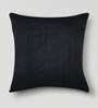 Mapa Home Care Studed Work Black Duppioni 16 x 16 Inch Cushion Cover